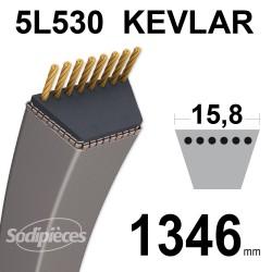 Courroie tondeuse 5L53 Kevlar Trapézoïdale. 15,8 mm x 1346 mm.