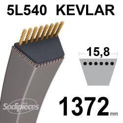 Courroie tondeuse 5L54 Kevlar Trapézoïdale. 15,8 mm x 1372 mm.