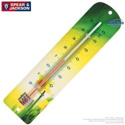 Thermomètre Spear & Jackson métal imprimé jonquille