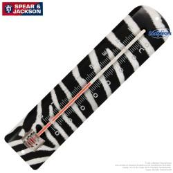 Thermomètre Spear & Jackson métal imprimé zebre