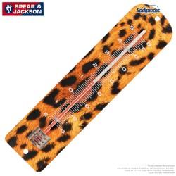 Thermomètre Spear & Jackson métal imprimé guepard