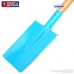 Bêche Spear & Jackson avec manche bois. Bleue
