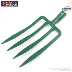 Fouche à bêcher Spear & Jackson 4 dents avec manche bois
