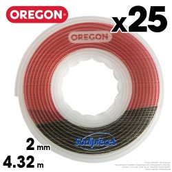 Fil débroussailleuse Oregon Gator® SpeedLoad™ 2 mm x 4,32 m par 25