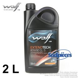 Huile de transmission Wolf 80w90 GL 5 2L
