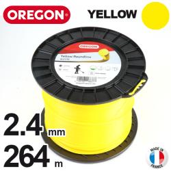 Fil Oregon Yellow rond jaune. 2.4 mm x 264 m pour débroussailleuse