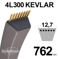 Courroie tondeuse 4L300 Kevlar Trapézoïdale 12,7 mm x 762 mm