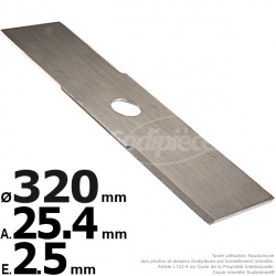 Lame droite. Ø 320 mm. Al 25,4 mm. Ep 2,5 mm.