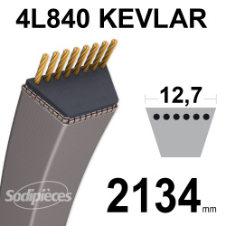 Courroie tondeuse 4L84 Kevlar Trapézoïdale. 12,7 mm x 2134 mm.