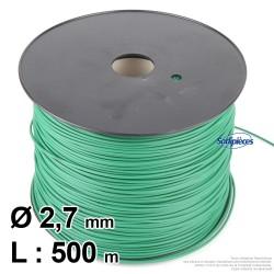 Câble de délimitation pour robot tondeuse Ø2,7 mm, longueur 500 m