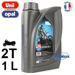 Huile synthétique 2 temps Canadian Racing Moto Uni Opal. 1 litre