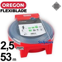 Fil Orégon FlexiBlade® carré. 2,5 mm x 53 m pour débroussailleuse