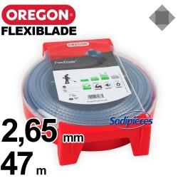 Fil Orégon FlexiBlade® carré. 2,65 mm x 47 m pour débroussailleuse
