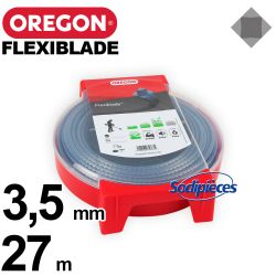 Fil Orégon FlexiBlade® carré. 3,5 mm x 27 m pour débroussailleuse