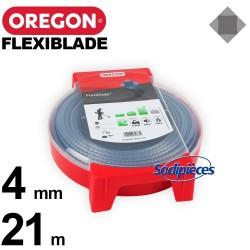 Fil Orégon FlexiBlade® carré. 4 mm x 21 m pour débroussailleuse