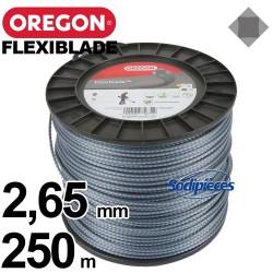 Fil Orégon FlexiBlade® carré. 2,65 mm x 250 m pour débroussailleuse