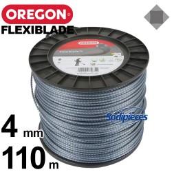 Fil Orégon FlexiBlade® carré. 4 mm x 110 m pour débroussailleuse