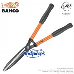 Cisaille à haies acier trempé Bahco Pradines P59-25. Usage fréquent universel. Fabriquée en France