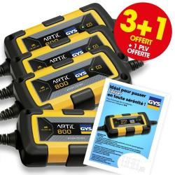 3 chargeurs de batterie ARTIC 800 + 1 OFFERT + 1 PLV OFFERTE