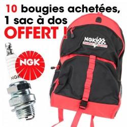 Un sac à dos OFFERT pour 50 bougies NGK achetées !