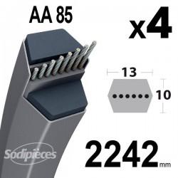Courroies AA85 Hexagonale. Par 4