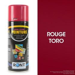 Bombe peinture spéciale motoculture. Rouge Toro. 400 ml.