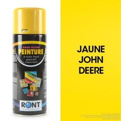 Bombe peinture spéciale motoculture. Jaune John-Deere. 400 ml
