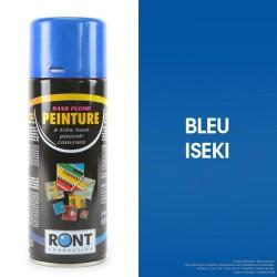 Bombe peinture spéciale motoculture. Bleu Iseki. 400 ml