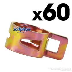 Assortiment 60 colliers de serrage pour durite