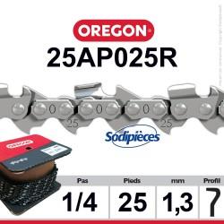 """Chaîne 25AP025R OREGON . 1/4"""". 1,3mm. 25 pieds"""