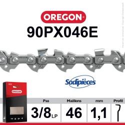 """Chaîne 90PX046E OREGON. 3/8"""". 1,1 mm. 46 maillons"""