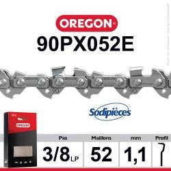 """Chaîne 90PX052E OREGON. 3/8"""". 1,1 mm. 52 maillons"""