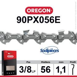 """Chaîne 90PX056E OREGON. 3/8"""". 1,1 mm. 56 maillons"""