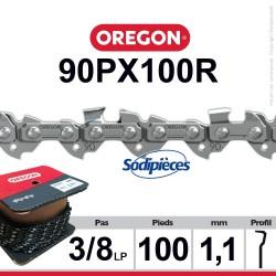 """Chaîne 90PX100R OREGON. 3/8"""". 1,1 mm.100 pieds"""