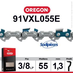 "Chaîne 91VXL055E OREGON. 3/8"". 1,3mm. 55 maillons"