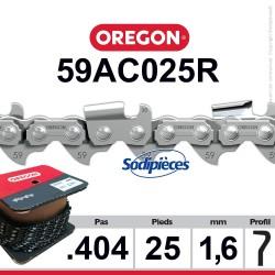 """Chaîne 59ACL025R OREGON. 404"""". 1,6mm. 25 pieds"""
