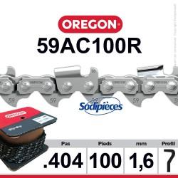 "Chaîne 59AC100R OREGON . 404"". 1,6mm. 100 pieds"