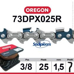 """Chaîne 73DPX025R OREGON S-70. 3/8"""". 1,5mm. 25 pieds"""