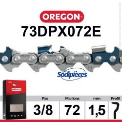 """Chaîne 73DPX072E OREGON S-70. 3/8"""". 1,5mm. 72 maillons"""