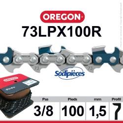 """Chaîne 73LPX100R OREGON Super 70. 3/8"""". 1,5mm. 100 pieds"""