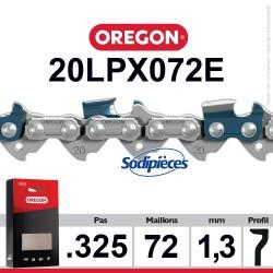 """Chaîne 20LPX072E OREGON Super 20 .325"""". 1,3mm. 72 maillons"""