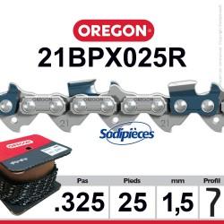 """Chaîne 21BPX025R OREGON .325"""". 1,5 mm. 25 pieds"""