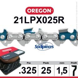 """Chaîne 21LPX025R OREGON Super 20.325"""". 1,5 mm. 25 pieds"""