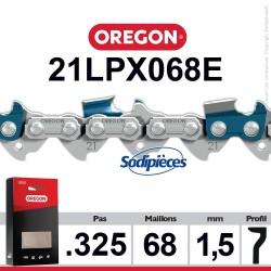 """Chaîne 21LPX068E OREGON Super 20.325"""". 1,5 mm. 68 maillons"""