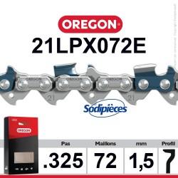 """Chaîne 21LPX072E OREGON Super 20 .325"""". 1,5 mm. 72 maillons"""