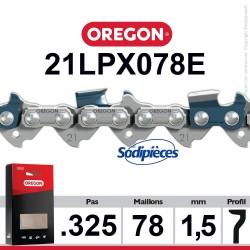 """Chaîne 21LPX078E OREGON Super 20.325"""". 1,5 mm. 78 maillons"""