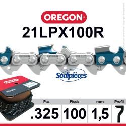 """Chaîne 21LPX100R OREGON Super 20. 325"""". 1,5mm. 100 pieds"""