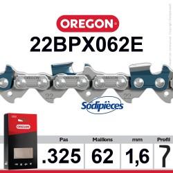 """Chaîne 22BPX062E OREGON. 325"""". 1,6mm. 62 maillons"""