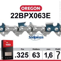 """Chaîne 22BPX063E OREGON. 325"""". 1,6mm. 63 maillons"""