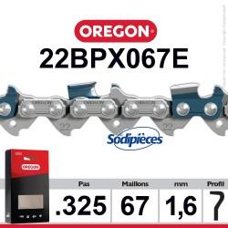 """Chaîne 22BPX067E OREGON. 325"""". 1,6mm. 67 maillons"""